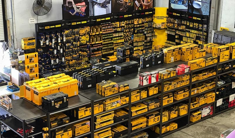 Browse our full isles of Stanley Black & Decker owned tool lines